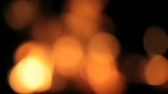 Fire unfocused Stock Footage