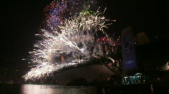 Sydney New Years Eve Fireworks 15 Stock Footage