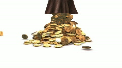Golden Coins Falling - Money 26 (HD) Stock Footage