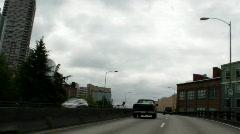 Alaskan Way Viaduct time lapse - stock footage