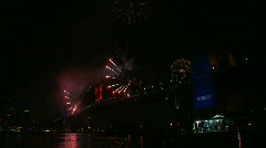 Stock Video Footage of Sydney New Years Eve Fireworks 07