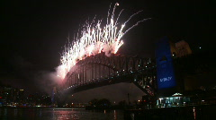 Sydney New Years Eve Fireworks 11 - stock footage