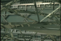 0638 industrial truss abstract background Stock Footage