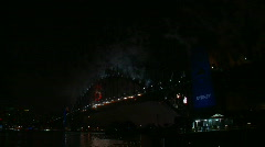 Sydney New Years Eve Fireworks 10 - stock footage