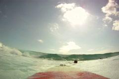 Surfboard Waves - stock footage