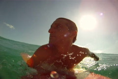 Surfing Wipeout Stock Footage