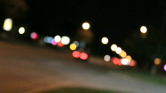 Unfocused street3 Stock Footage