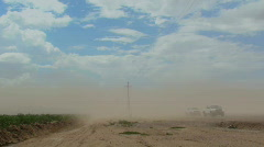 Dust Storm Time Lapse Stock Footage