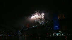 Sydney New Years Eve Fireworks 06 Stock Footage