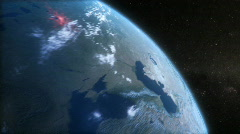 The day earth turned red Stock Footage