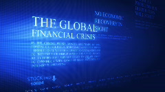 Business global crisis - stock footage