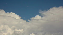 HD Soft white clouds in the blue sky timelapse series - 3 Stock Footage