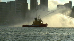 Fire Boat on Sydney Harbour 02 Stock Footage