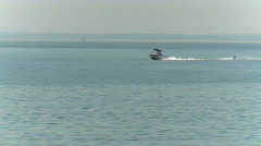 Waterskiing on the bay (1 of 2) Stock Footage