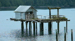 Building on piers abandoned P HD 0363 Stock Footage