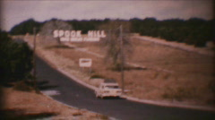 "Vintage ""Spook Hill"", Lake Wales, FL 1959 Stock Footage"