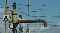 Pipe steam locomotive Stock Footage