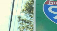 I-95 sign - closeup Stock Footage