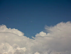 2K Film 24p Soft white clouds in the blue sky timelapse series - 3 Stock Footage