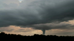 Tornado with Dark Stormclouds Timelapse Stock Footage