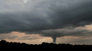 Stock Video Footage of Tornado with Dark Stormclouds Timelapse