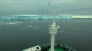 Stock Video Footage of ship sails through ice field in antarctica