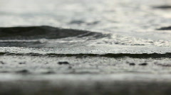 Waves closeup. Shallow dof. Stock Footage