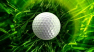Golf ball background, LOOP Stock Footage