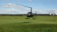 Helicopter take off Stock Footage