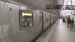 Manhattan Subway 1 Stock Footage