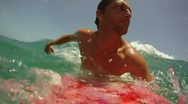 Stock Video Footage of Point of View Surfing