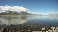 Mountain lake Khoton Nuur in Mongolian Altai Stock Footage
