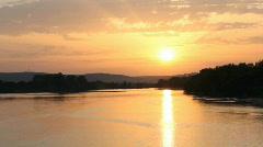 Sunset on La Loire - timelapse - stock footage