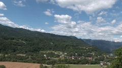 Biodynamic village in Slovenia Stock Footage