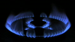 Gas flame 01 Stock Footage