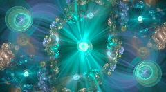 Aqua spirals - stock footage