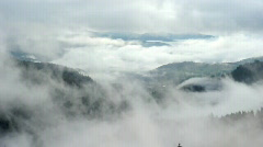 Timelaps of moving fog in mountains Stock Footage
