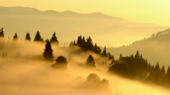 Timelaps sunrise in Carpathian mountains Stock Footage