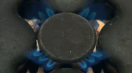 Gas flame 18 Stock Footage