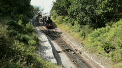 Steam train, Dorset, UK Stock Footage