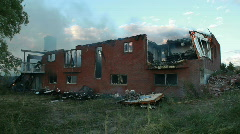 House burned from back residential property P HD 0751 Stock Footage