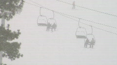 Ski Lift Through Snow 1080 - stock footage