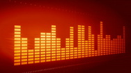 Stock Video Footage of ORANGE Graphic music equalizer