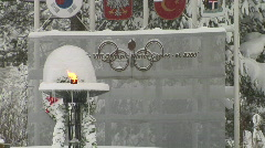 SquawValleyOlympicTorch 1080 Stock Footage