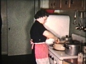 Stock Video Footage of Christmas Turkey (1958 Vintage 8mm film)