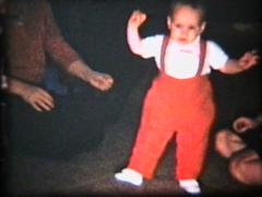 Boy Learning To Walk (1962 Vintage 8mm film) - stock footage