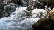Stock Video Footage of Gushing flowing water