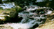 Stock Video Footage of Panorama of a mountain river