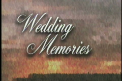 1001 Wedding memories storybook opening Stock Footage