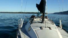 Boating 03: Aft wide in San Juan Islands Stock Footage